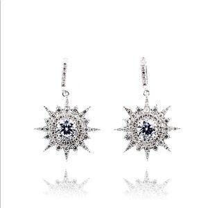 Shining polaris crystal earrings